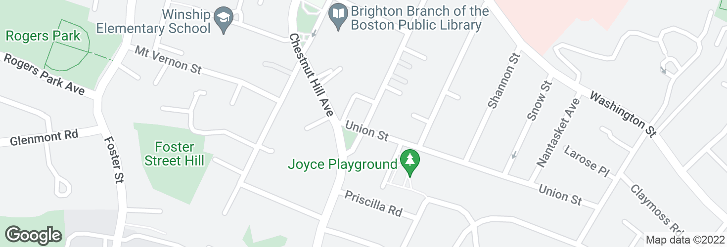Map of Winship St @ Union St and surrounding area
