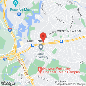 Map of BAYADA Assistive Care at 2000 Commonwealth Avenue, Auburndale, MA 02466
