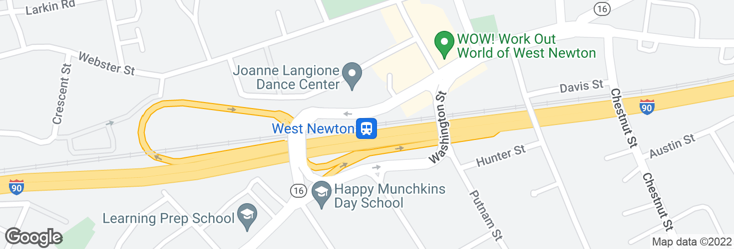 Map of West Newton and surrounding area