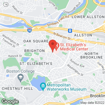 Map of Mark Amster, MD at 280 Washington Street, Brighton, MA 02135