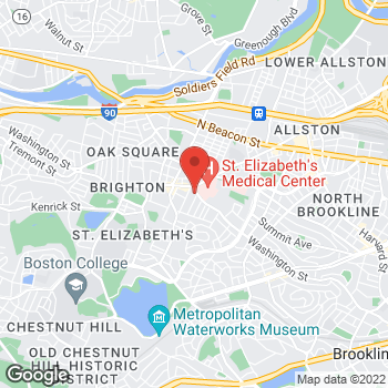 Map of Alena Goldman, MD at 280 Washington Street, Brighton, MA 02135