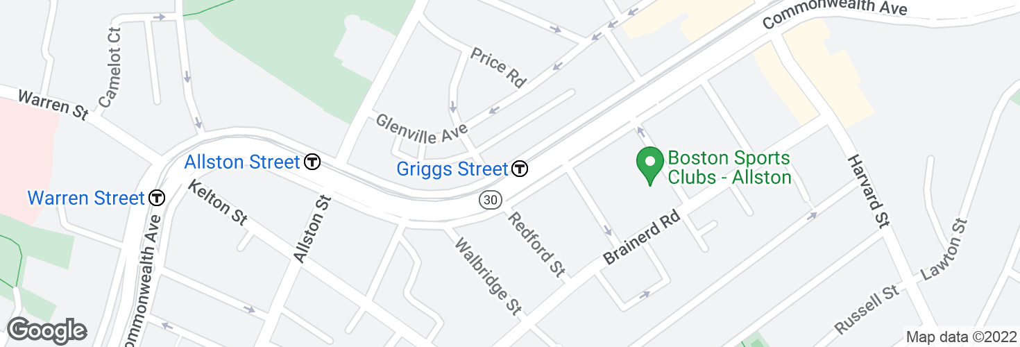 Map of Griggs Street and surrounding area