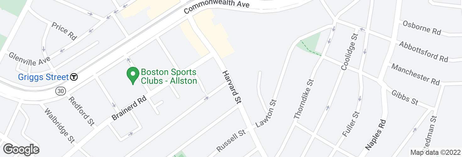 Map of Harvard St opp Verndale St and surrounding area