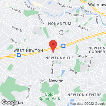 Map of Diana Rodriguez, MD at 90 Highland Avenue, Newton, MA 02460