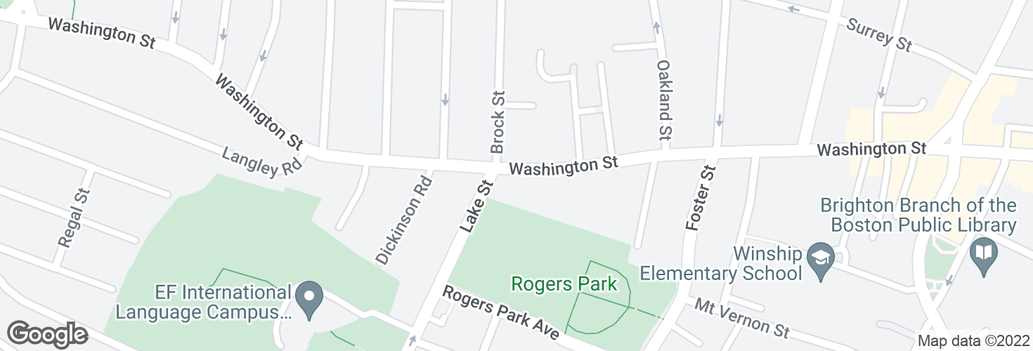 Map of Washington St @ Lake St and surrounding area