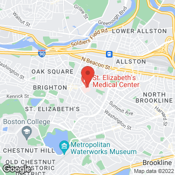 Map of Paul Appleton, MD at 736 Cambridge Street, Brighton, MA 02135