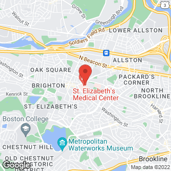Map of Jeena Sandeep, MD at 11 Nevins Street, Brighton, MA 02135