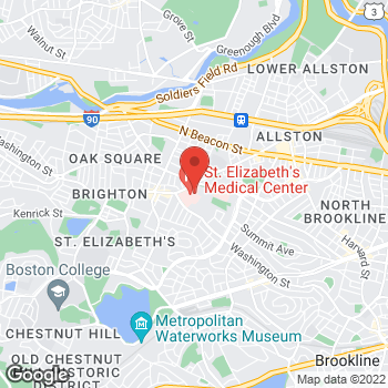Map of Thanh Nguyen, MD at 736 Cambridge Street, Brighton, MA 02135