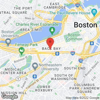 Map of BCBGMAXAZRIA at Bloomingdales at 225 Boylston Street, Boston, MA 02199