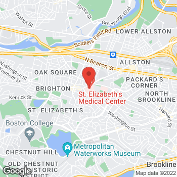Map of Allison Keel, MD at 736 Cambridge Street, Brighton, MA 02135