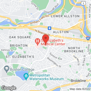 Map of Monica Chavez, MD at 77 Warren Street, Brighton, MA 00000