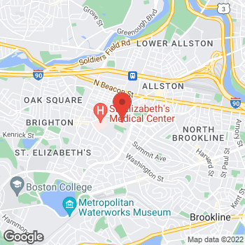 Map of Paul Burns, MD at 77 Warren Street 2nd, Brighton, MA 02135