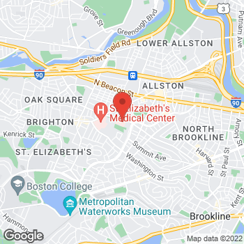 Map of Hernan Avella, MD at 77 Warren Street, Brighton, MA 02135
