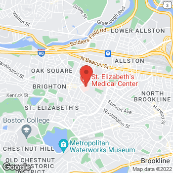 Map of Usha Vellayappan, MD at 736 Cambridge Street, Brighton, MA 02135