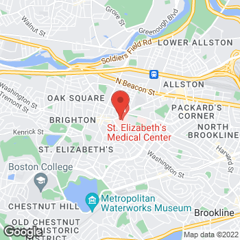 Map of St. Elizabeth's Medical Center Bone And Joint Center at 736 Cambridge Street, Brighton, MA 02135