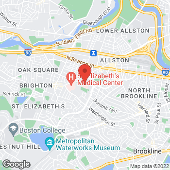 Map of Boris Balson, MD at 77 Warren Street, Brighton, MA 02135