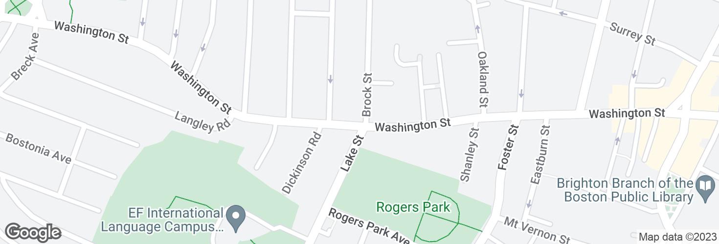Map of Washington St @ Brock St and surrounding area