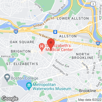 Map of Ludmila Fridman, MD at 77 Warren Street2nd, Brighton, MA 02135