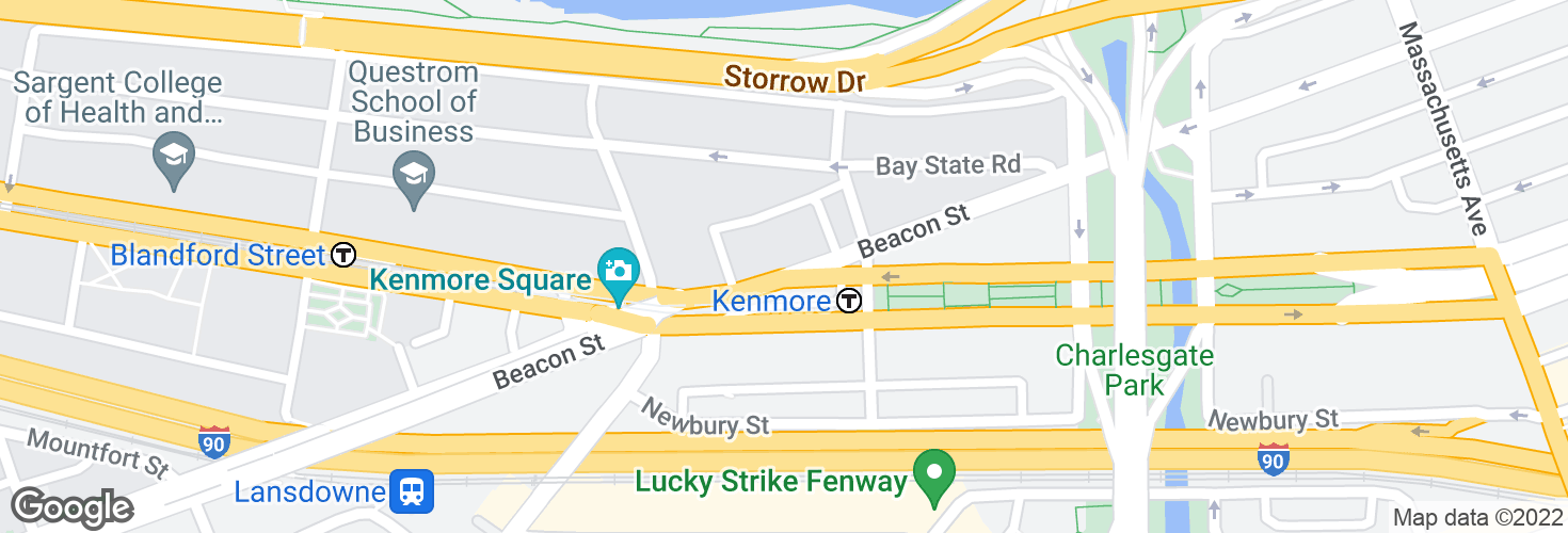 Map of Kenmore and surrounding area
