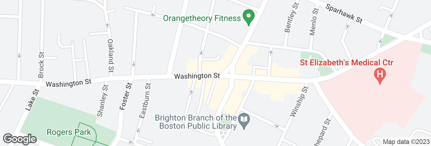 Map of Washington St @ Market St and surrounding area
