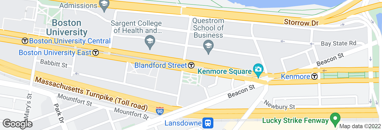 Map of Blandford Street and surrounding area