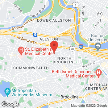 Map of Taidine Lopes, MD at 226 Harvard Avenue 3rd, Allston, MA 02134