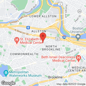 Map of Hair Cuttery at 226 Harvard Avenue, Allston, MA 02134