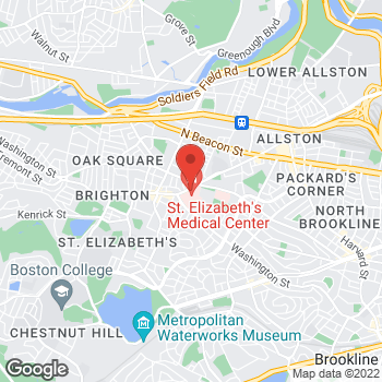Map of Nawar Najjar, MD at 736 Cambridge Street, Brighton, MA 02135