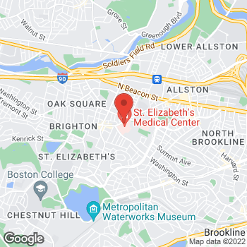 Map of Thomas Wuerz, MD at 736 Cambridge Street, Brighton, MA 02135