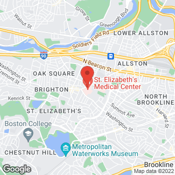 Map of Diana Rodriguez, MD at 736 Cambridge Street, Brighton, MA 02135