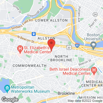 Map of Stop & Shop at 214 Harvard Avenue, Allston, MA 02134