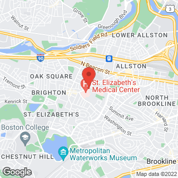 Map of Shirly Ramchandani, MD at 11 Nevins Street, Brighton, MA 02135