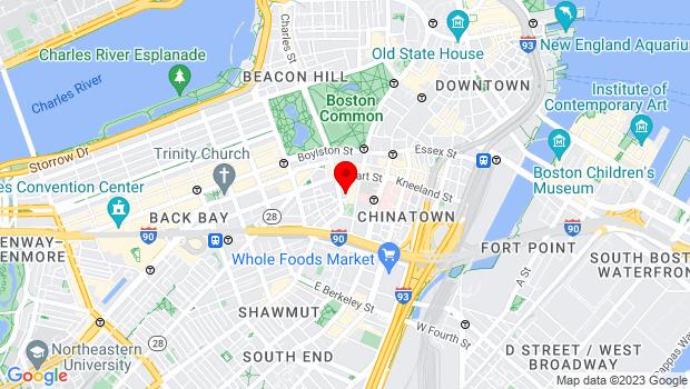 Google Map of 74 Warrenton Street, Boston, MA  02116