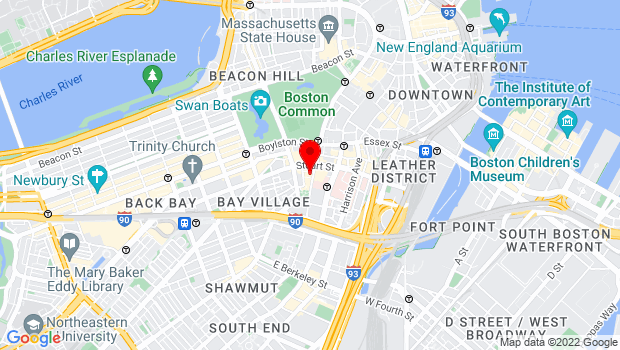 Google Map of 265 Tremont Street, Boston, MA 02116