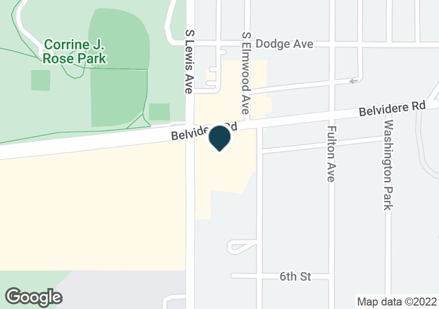 Google Map of1811 BELVIDERE RD