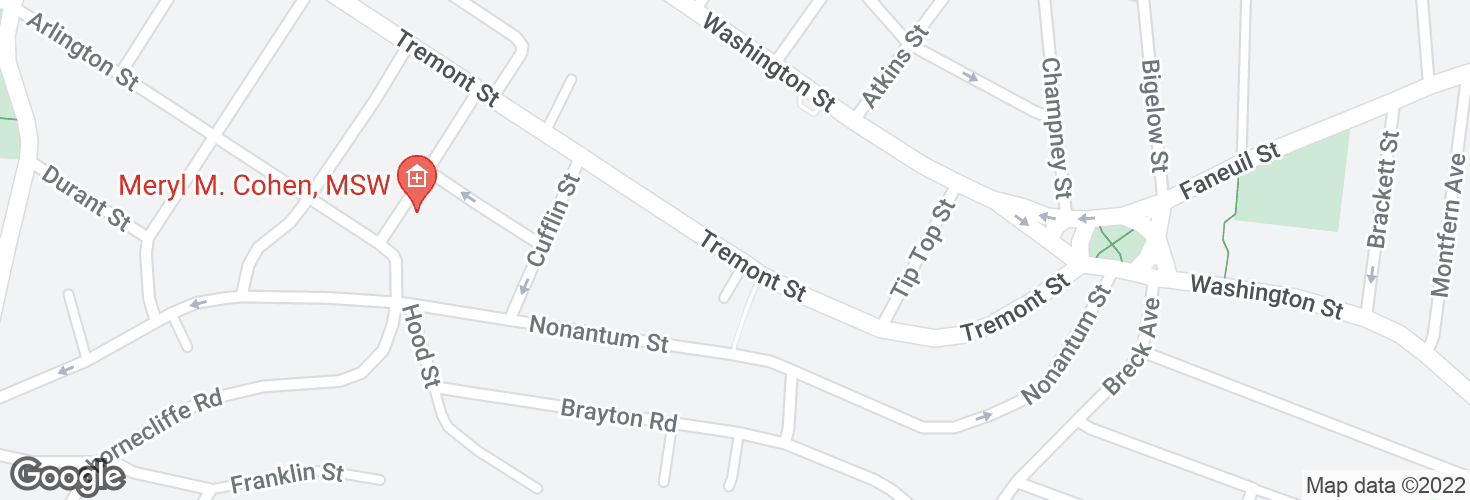 Map of Tremont St opp Tremont Pl and surrounding area