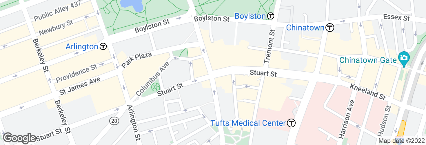 Map of Stuart St @ Charles St S and surrounding area