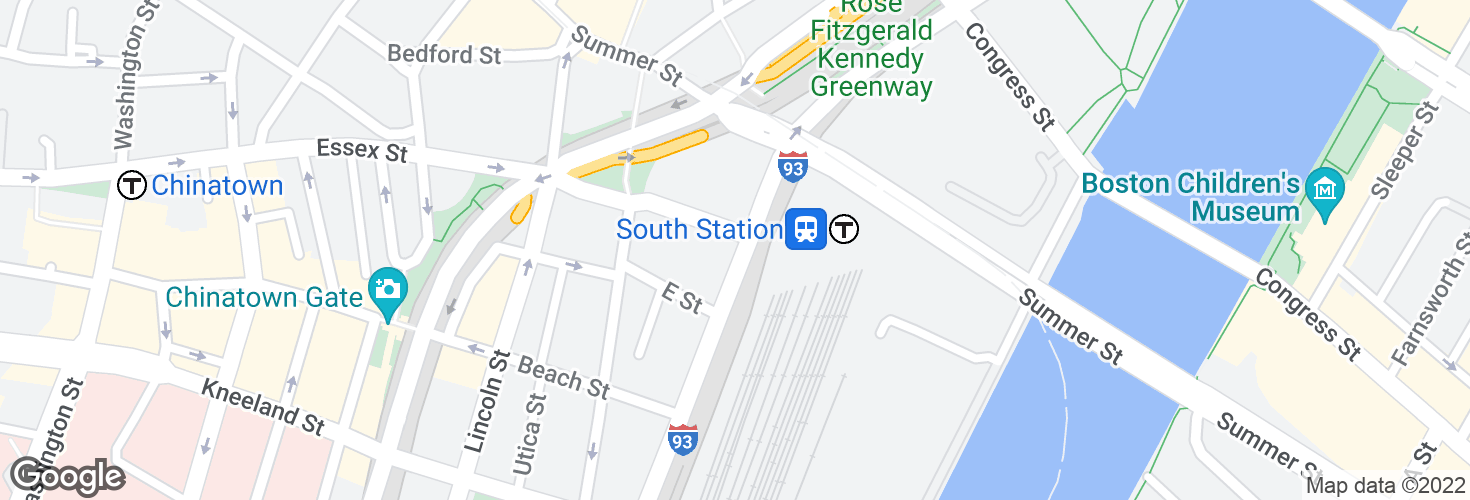 Map of Essex St @ Atlantic Ave and surrounding area