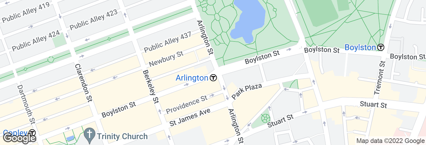 Map of Arlington and surrounding area