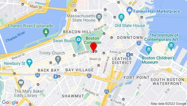 Google Map of 106 Boylston St, Boston, MA 02116