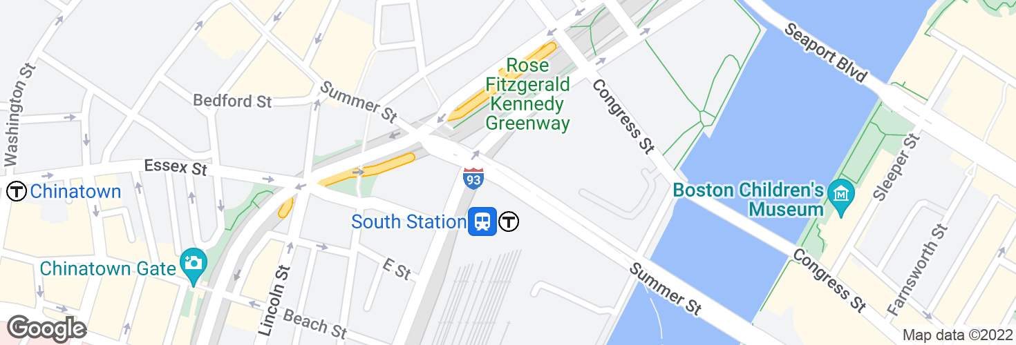 Map of Summer St @ Atlantic Ave and surrounding area