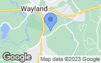 Map of Wayland, MA