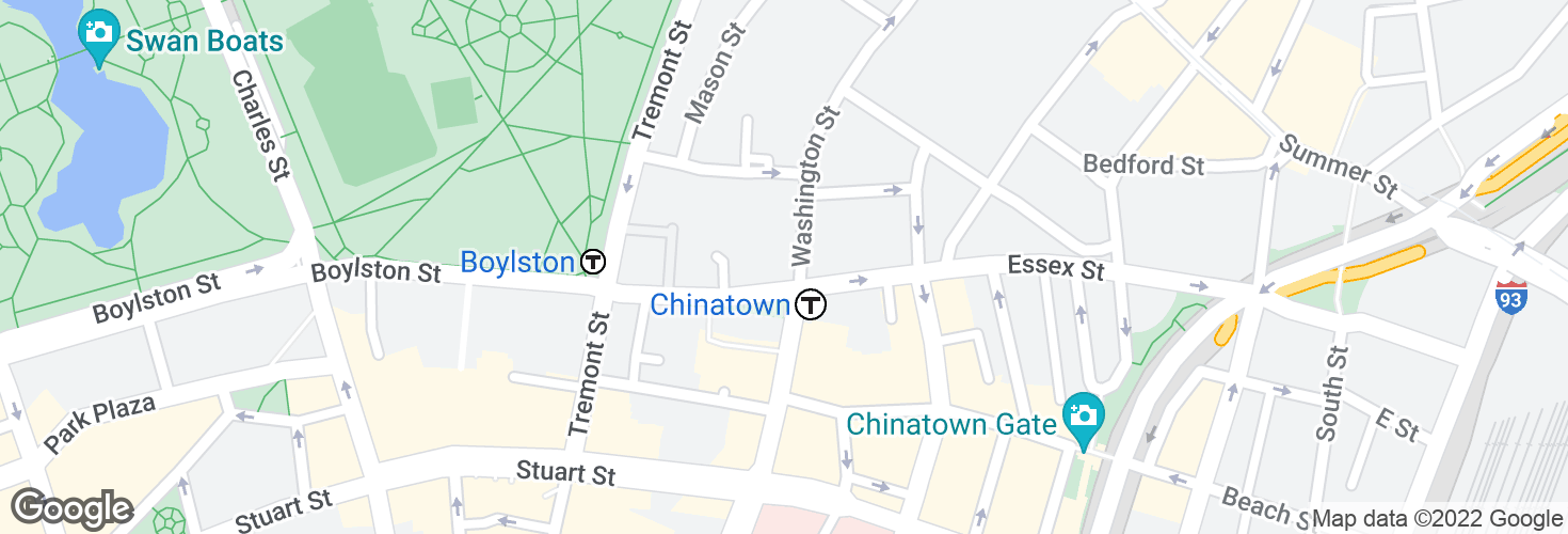 Map of Chinatown and surrounding area