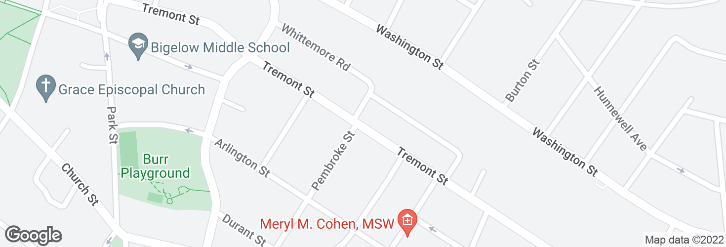 Map of Tremont St @ Playstead Rd and surrounding area