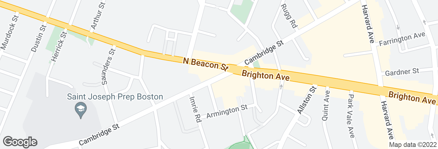 Map of Cambridge St @ N Beacon St and surrounding area
