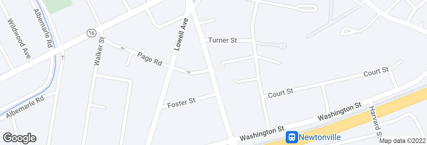 Map of Walnut St @ Page Rd and surrounding area