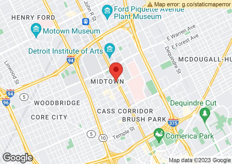 Google Map of 4501 WOODWARD AVE