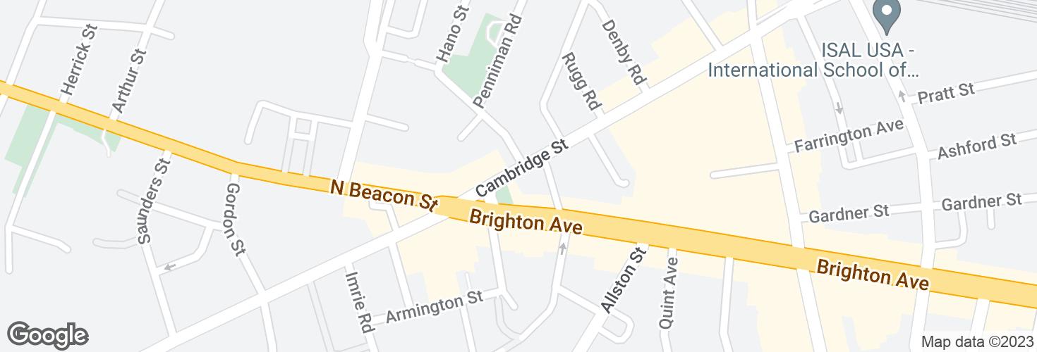 Map of Cambridge St opp Hano St and surrounding area