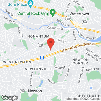 Map of Eleni Okeanis Vaou, MD at 29 Crafts Street, Newton, MA 02158