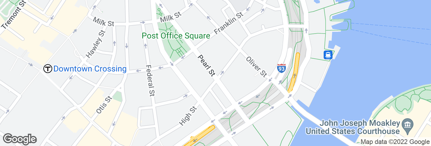 Map of Pearl St @ High St and surrounding area